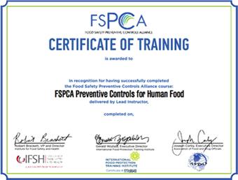 certificado FSCPA